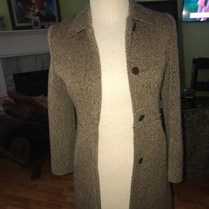 Via spiga tweed coat
